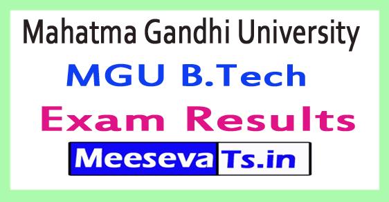 Mahatma Gandhi University MGU B.Tech Results 2018