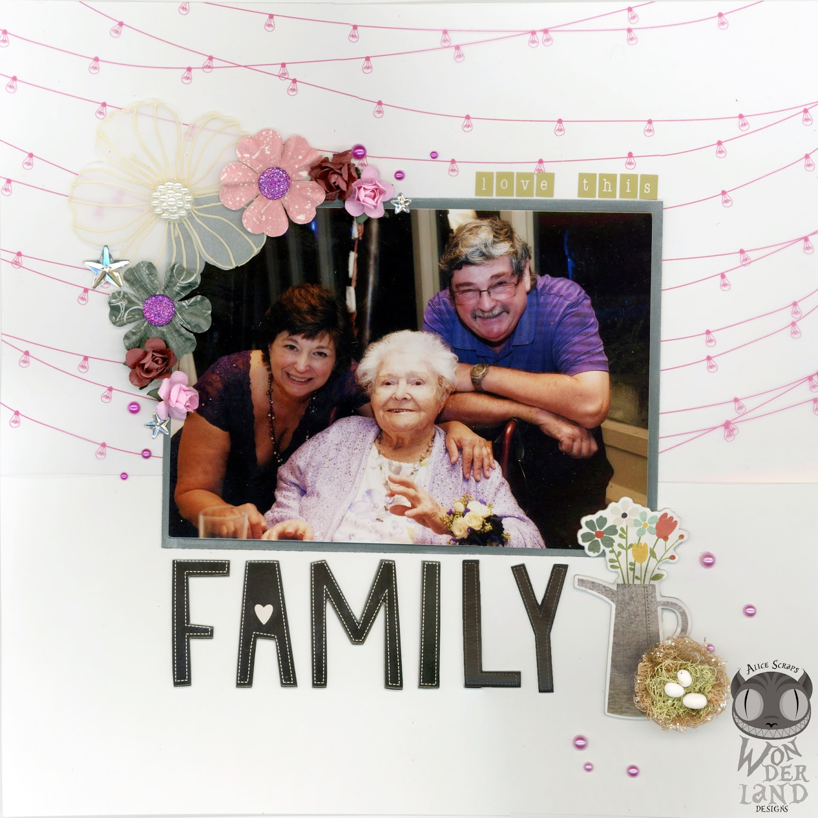 Simple Wedding Family Pictures: Love This Family: A Scrapbook Layout