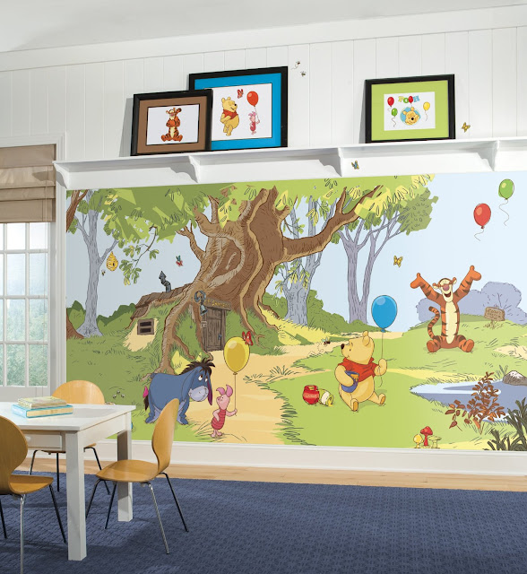 Winnie the Pooh Wall Mural Childrens Room