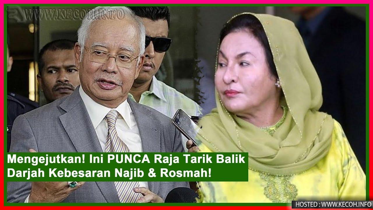 Pingat Darjah Kebesaran Najib dan Rosmah Ditarik Balik Oleh Pihak Istana