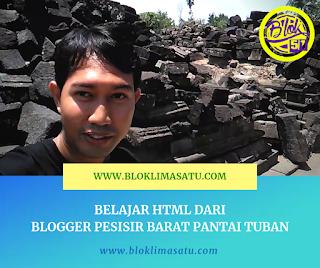 Belajar Html Dari Blogger Pesisir Barat Kota Tuban