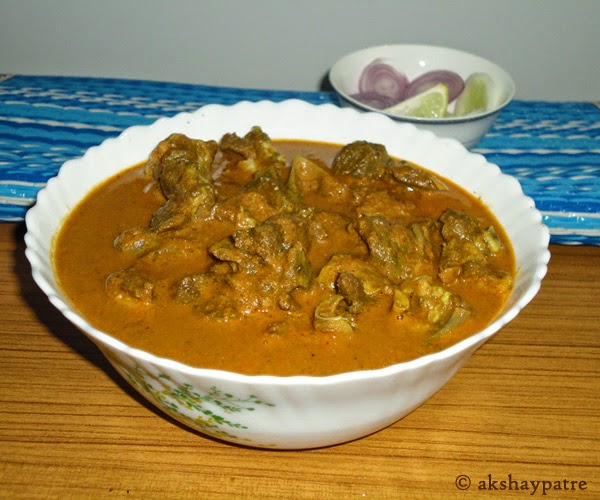 spicy mutton curry ready to serve
