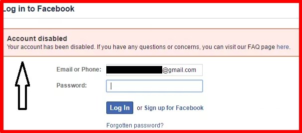 Government Id Facebook Disabled Account