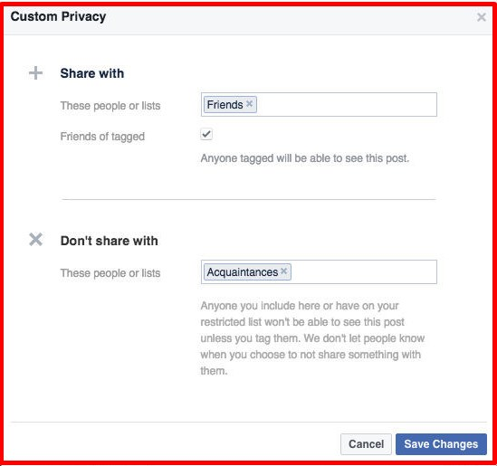 how to block your friends list on facebook
