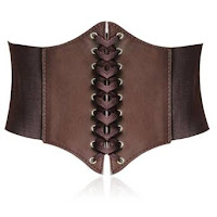 steampunk swiss belt swiss waists brown lace up corset belt