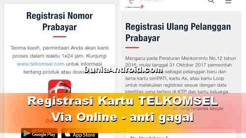 Cara Registrasi Kartu Telkomsel Online Gampang Dan Anti Gagal Dunia Android