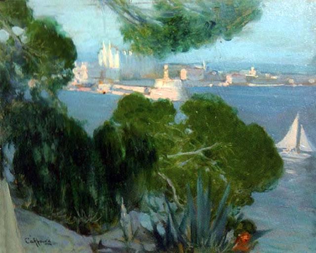 Pedro Caffaro, Bahía de Mallorca, Mallorca en Pintura, Mallorca pintada, Paisajes de Mallorca