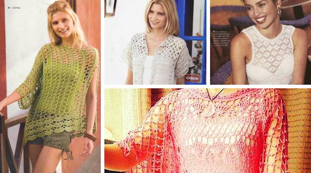 8 Blusas Caladas a Crochet fáciles de elaborar