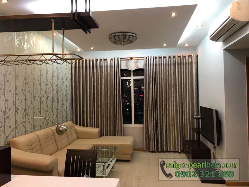 Cho thuê 2 phòng ngủ Ruby2 Saigon Pearl có nội thất view Bitexco Q1 - hình 2
