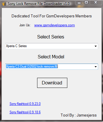 Sony Xperia All Lock Remove FTF Downloader V 1 0 By GSMDevelopers