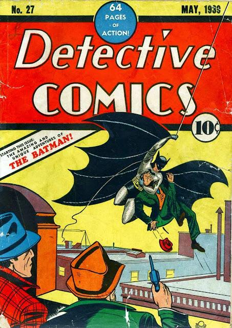 Detective Comics v1 #27, 1939 DC golden age comic book cover - 1st appearance Batman