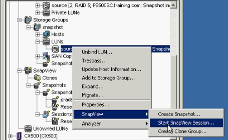 EMC Snapshot Snapview