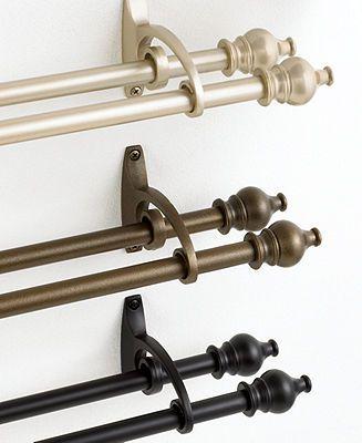 Curtain Rod Diameter Dimensions Diy Double Bracket