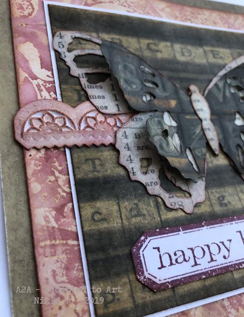 Tim Holtz Tattered Butterfly Bigz die birthday cards