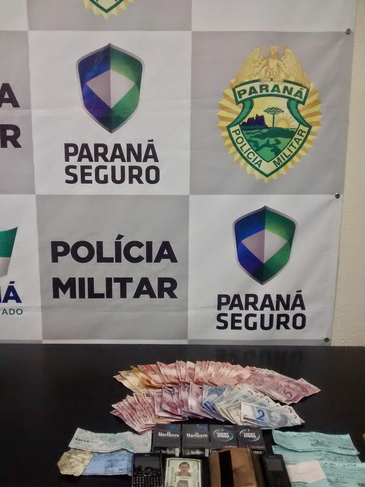 Blog de Castro, Notícias de Castro paraná,Polícia prende assaltante e recupera dinheiro