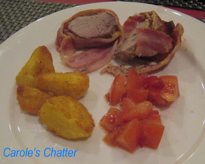 Carole's Chatter: Pork fillet wrapped in dry cure streaky bacon
