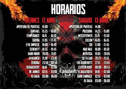 Horarios Galia Metal Fest