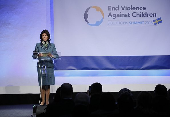 Queen Silvia and Crown Princess Victoria attended Agenda 2030 for Children summit in Stockholm. Princess Victoria By Malene Birger Trousers