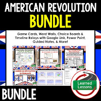 American Revolution, Google Activities, American History Timelines, American History Word Walls, American History Test Prep, American History Outline Notes, American History by President Research, American History Mapping Activities, American History Biography Profiles, American History Interactive Notebooks