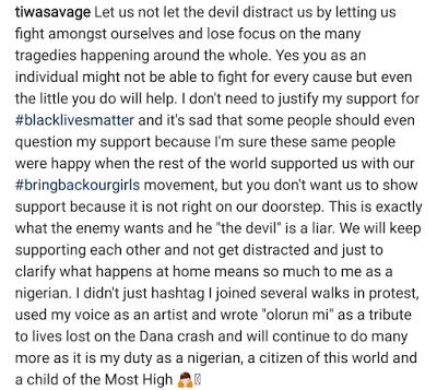 , Music goddess Tiwa Savage joins the Black Lives Matter movement, Latest Nigeria News, Daily Devotionals & Celebrity Gossips - Chidispalace
