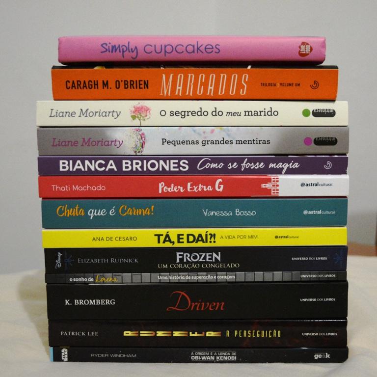 Livros adquiridos - Bienal do Livro SP 2016