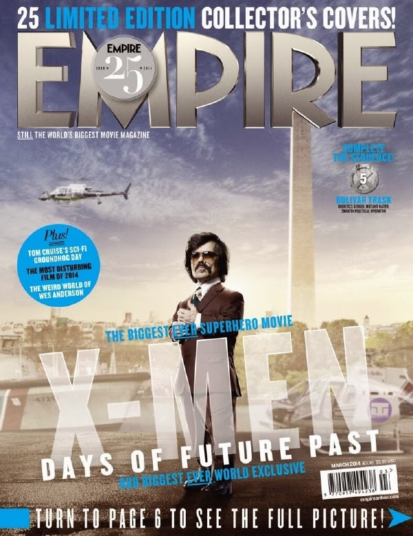 Empire covers X-Men: Days of Future Past: TRask