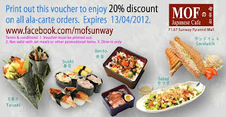 mof - PROMOTION - [ENDED] 20% off for MOF ala-carte orders