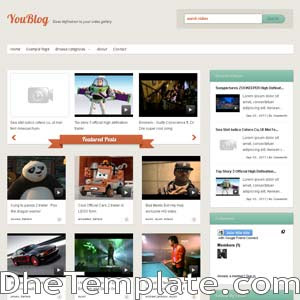 Youblog blogger template. blogger template for video blog. free blogspot template video blog