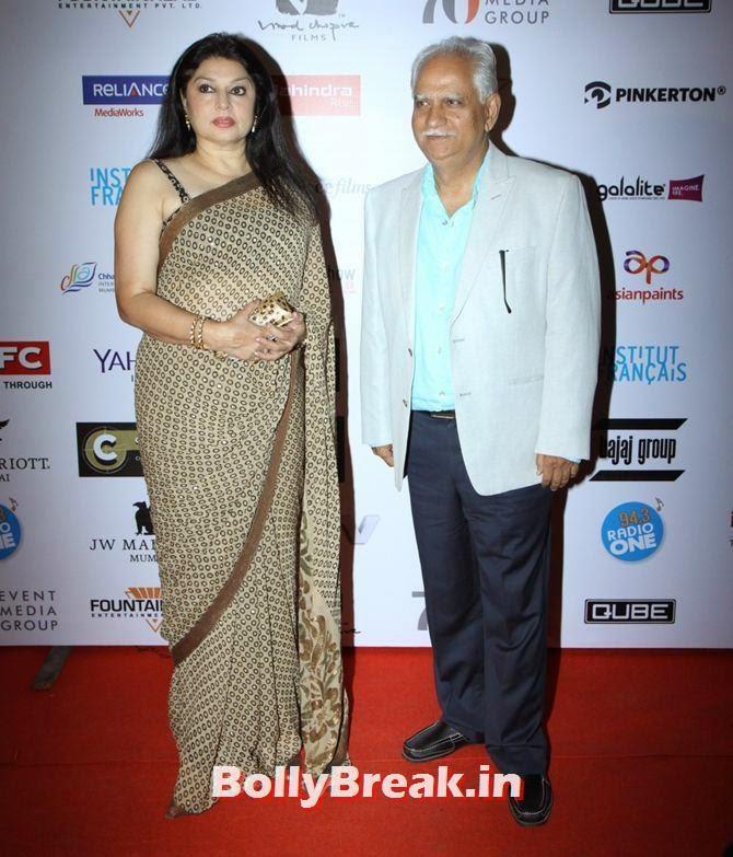 Kiran Juneja, Ramesh Sippy, Mumbai Film Festival 2014 Photos