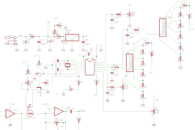 DIY tremolo with tap tempo schematic