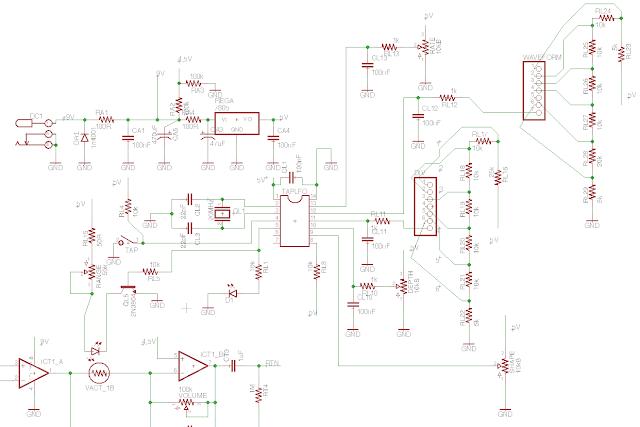 DIY tremolo with tap tempo schematic