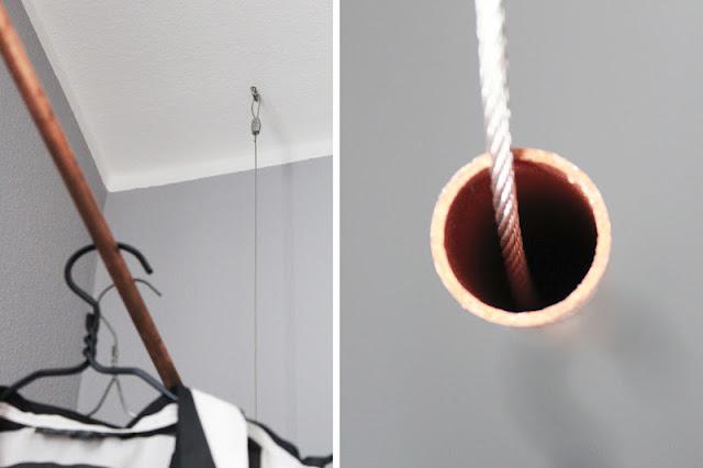 diy kupfer kleiderstange. Black Bedroom Furniture Sets. Home Design Ideas