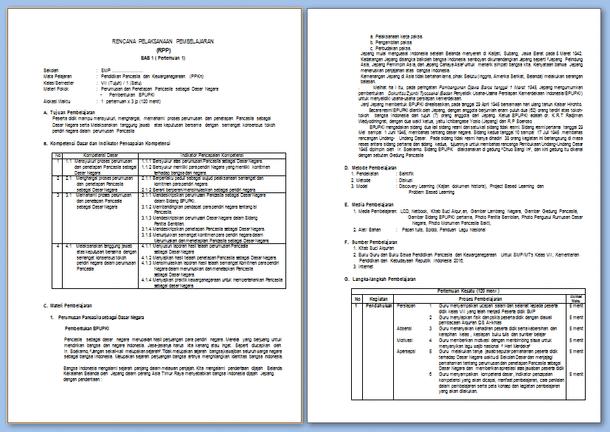 Contoh RPP PPKn Kelas 7 Kurikulum 2013 Edisi Revisi 2017 Semester 1