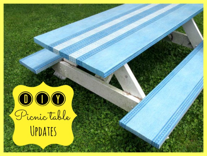 Coastal painted picnic table