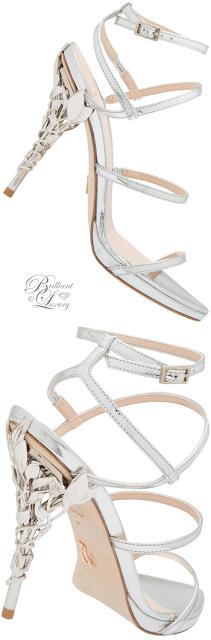 Ralph & Russo silver Eden Eve sandal #brilliantluxury