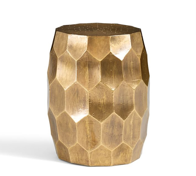 Gold Faceted Side Table