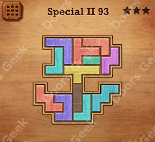 Cheats, Solutions, Walkthrough for Wood Block Puzzle Special II Level 93