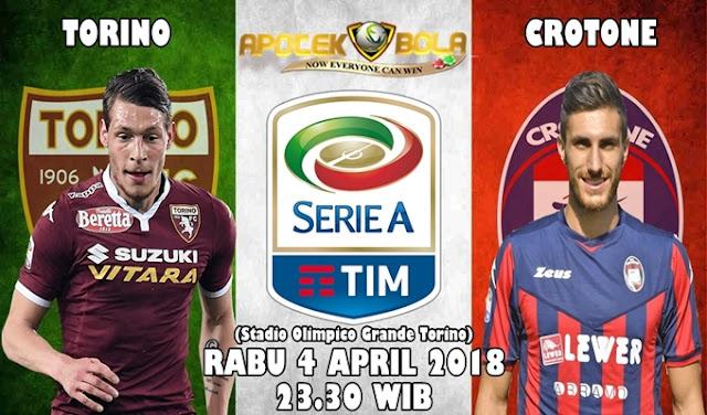 Prediksi  Torino vs Crotone 4 April 2018
