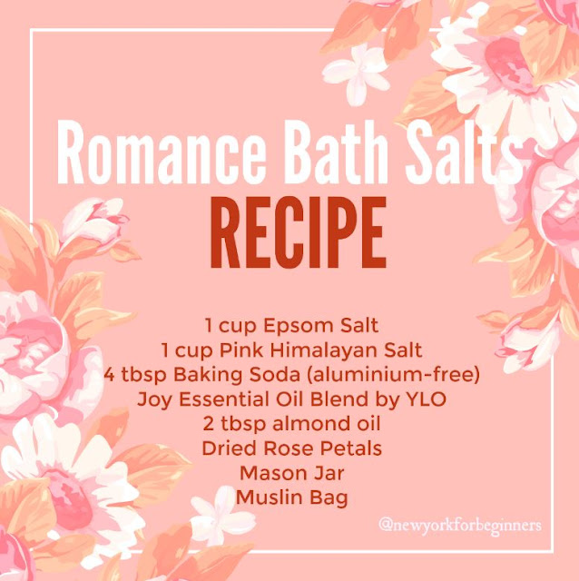 Recipe for all-natural romance bath salts using Joy by Young Living Oils