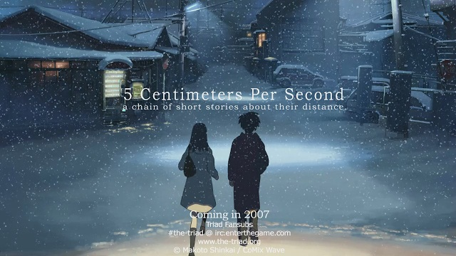5cm per Second BD Subtitle Indonesia