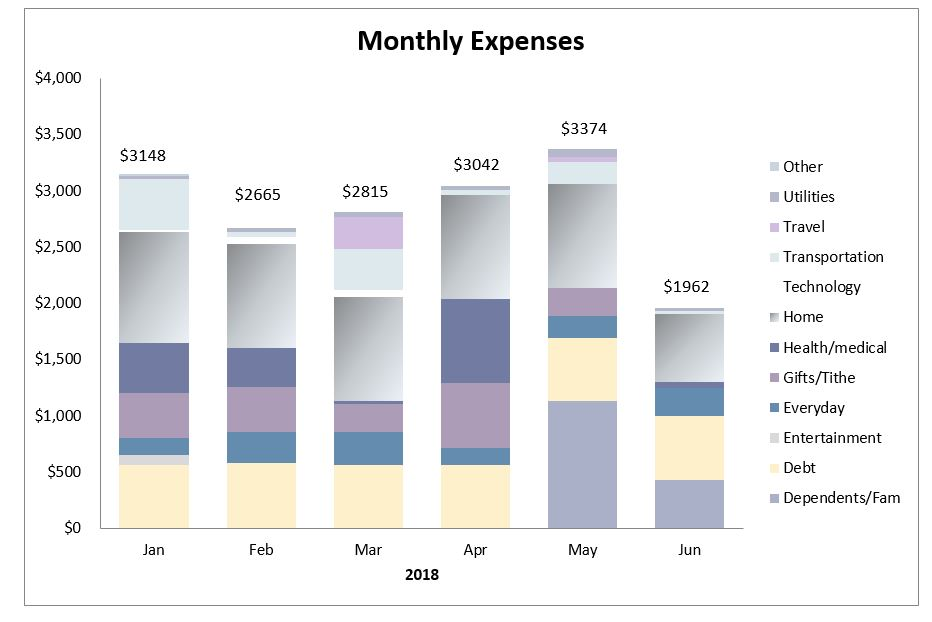 My early retirement journey - expenses report