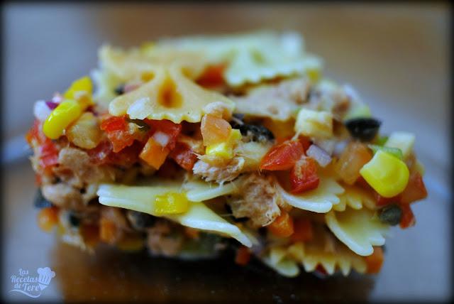Ensalada de pasta atún y vegetales tererecetas 05