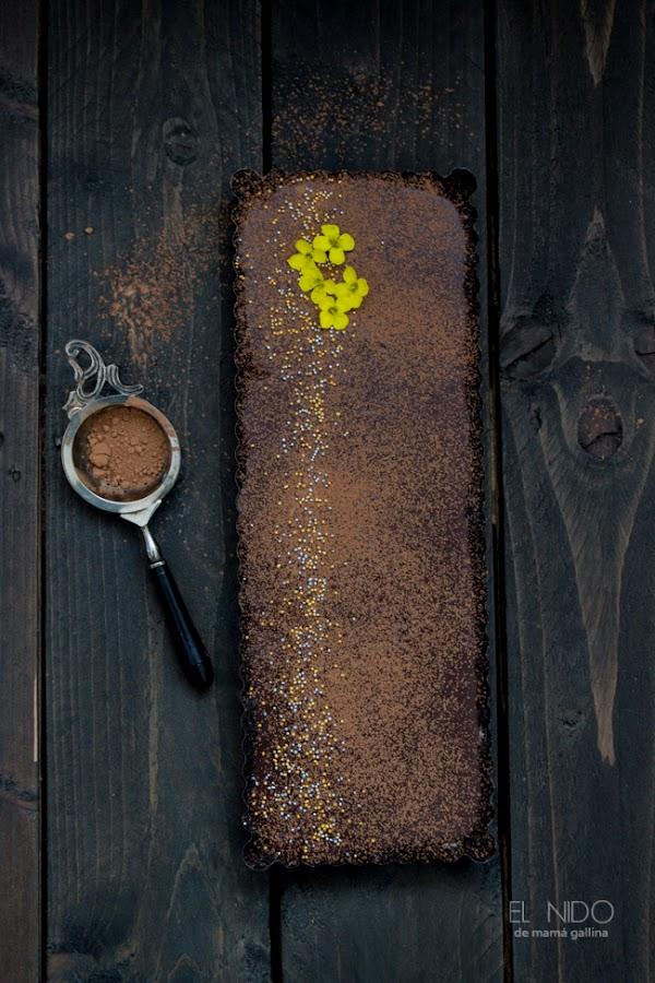 Chocolat and caramel cake