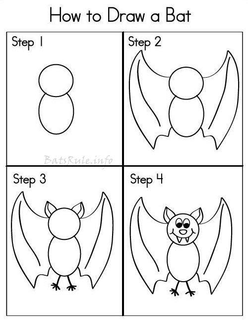 Bat Art How To Draw A Bat