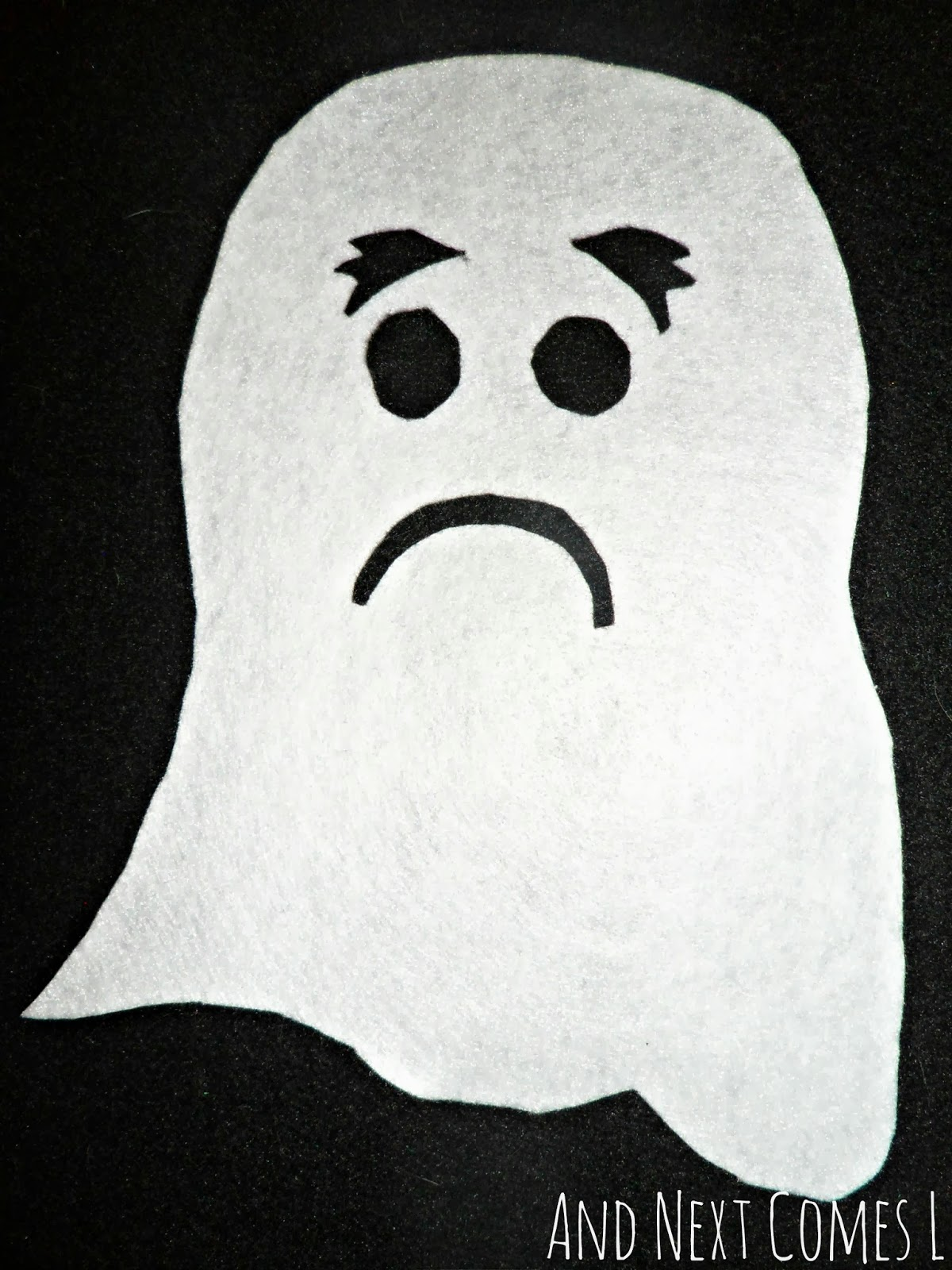 Make a Ghost Felt Board Activity | And Next Comes L