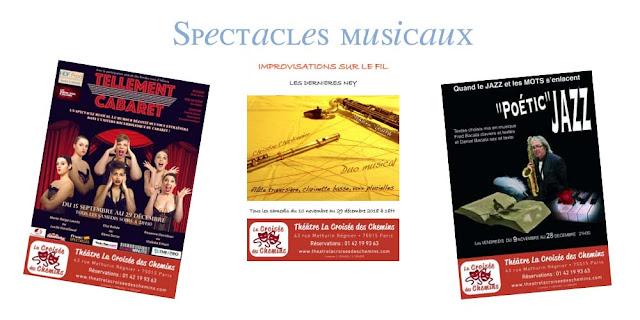 Tellement cabaret, Improvisations sur le nid et Poetic jazz La croisée des chemins