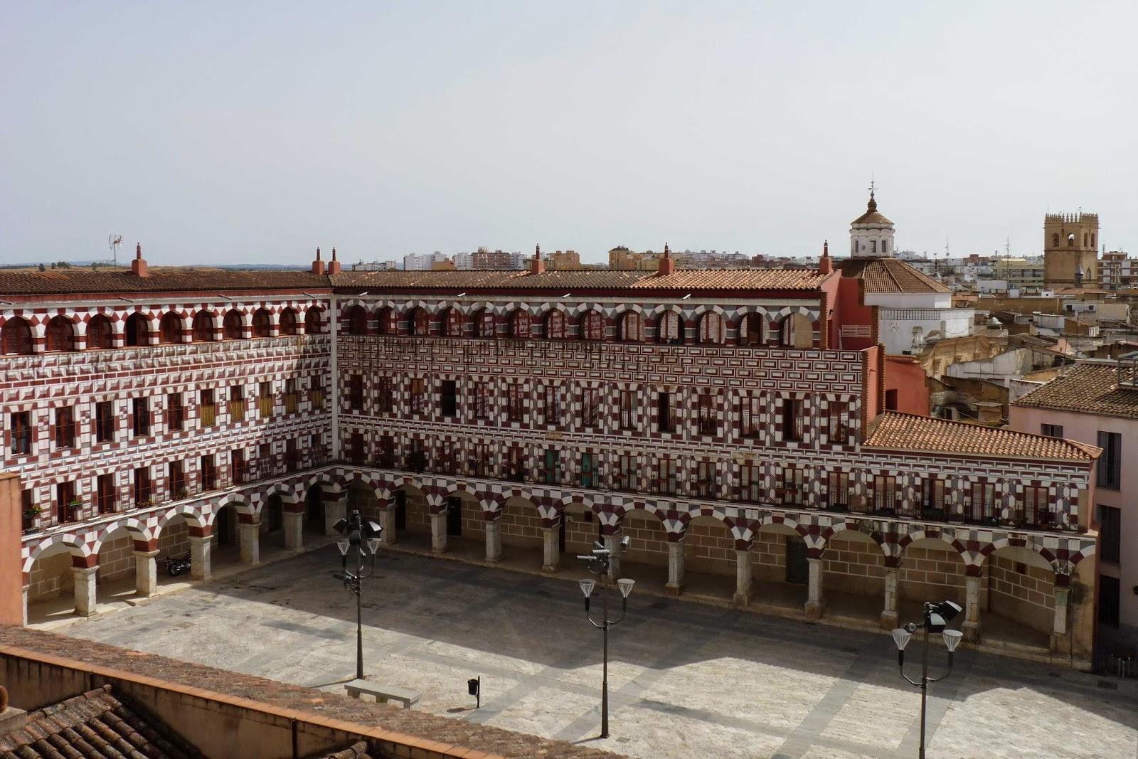Plaza Alta desde el Alcazaba de Badajoz.
