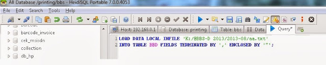 Cara Import File CSV ke Database MySQL