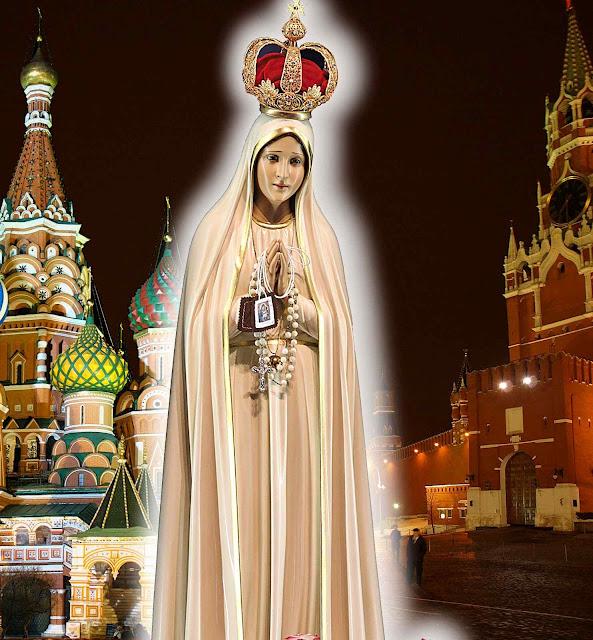 Nossa Senhora de Fátima no fim triunfará e converterá todo o mundo eslavo, malgrado as insídias infernais