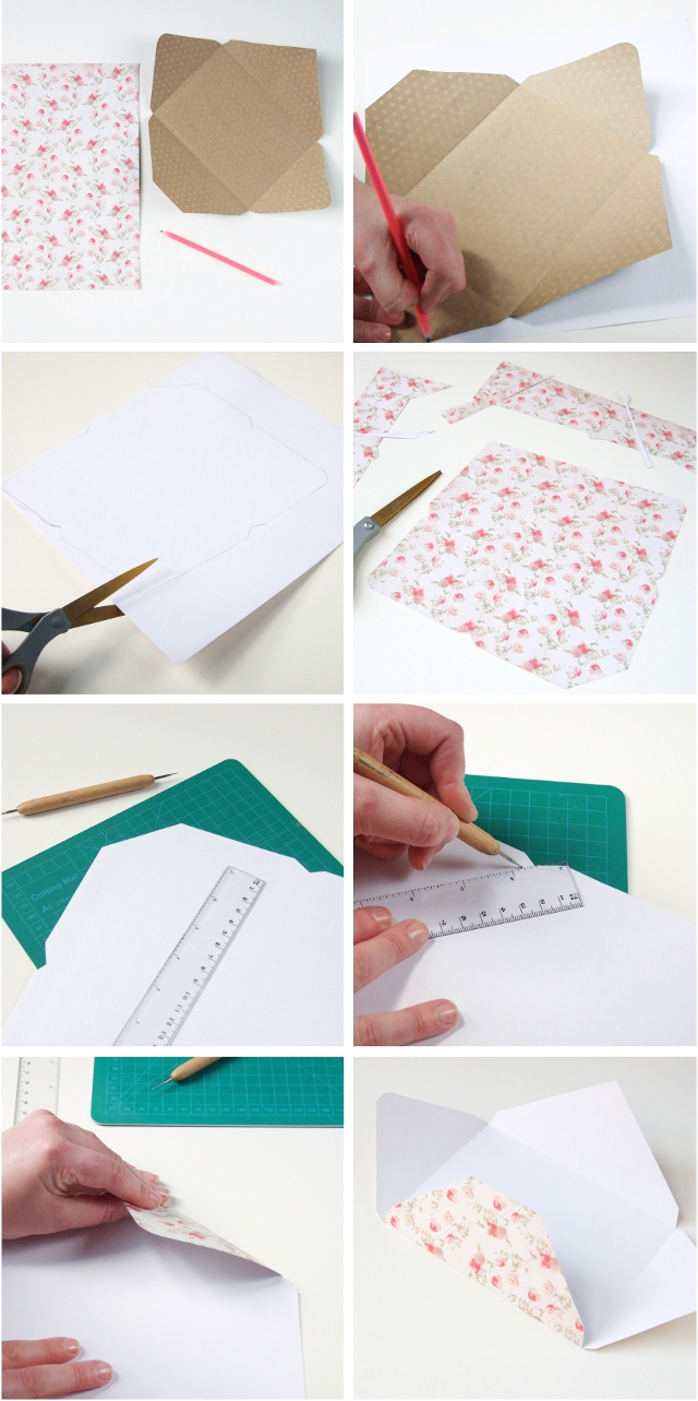 How to make your own simple diy scrapbook paper envelopes